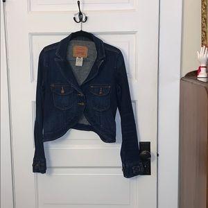 Rare Cropped dark denim jean jacket Levis bolero